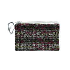 Full Frame Shot Of Abstract Pattern Canvas Cosmetic Bag (s)