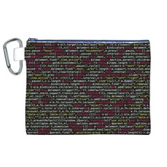 Full Frame Shot Of Abstract Pattern Canvas Cosmetic Bag (XL)