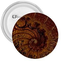 Copper Caramel Swirls Abstract Art 3  Buttons