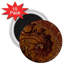 Copper Caramel Swirls Abstract Art 2.25  Magnets (10 pack)
