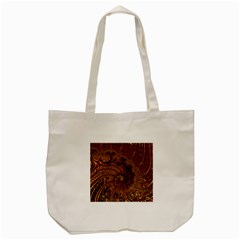 Copper Caramel Swirls Abstract Art Tote Bag (Cream)