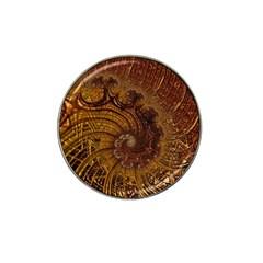 Copper Caramel Swirls Abstract Art Hat Clip Ball Marker (10 Pack)