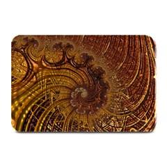 Copper Caramel Swirls Abstract Art Plate Mats