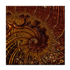 Copper Caramel Swirls Abstract Art Face Towel
