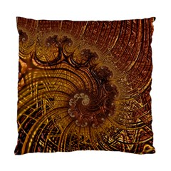 Copper Caramel Swirls Abstract Art Standard Cushion Case (Two Sides)