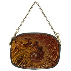 Copper Caramel Swirls Abstract Art Chain Purses (two Sides)