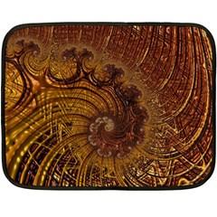 Copper Caramel Swirls Abstract Art Double Sided Fleece Blanket (mini)