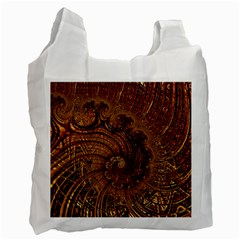 Copper Caramel Swirls Abstract Art Recycle Bag (One Side)