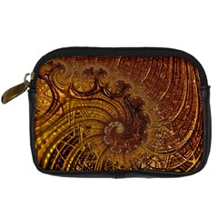 Copper Caramel Swirls Abstract Art Digital Camera Cases