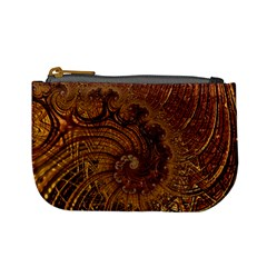 Copper Caramel Swirls Abstract Art Mini Coin Purses