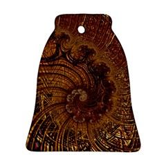 Copper Caramel Swirls Abstract Art Ornament (Bell)
