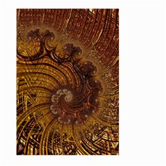 Copper Caramel Swirls Abstract Art Large Garden Flag (Two Sides)