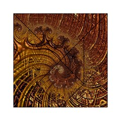 Copper Caramel Swirls Abstract Art Acrylic Tangram Puzzle (6  x 6 )