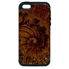 Copper Caramel Swirls Abstract Art Apple Iphone 5 Hardshell Case (pc+silicone)