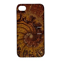 Copper Caramel Swirls Abstract Art Apple Iphone 4/4s Hardshell Case With Stand