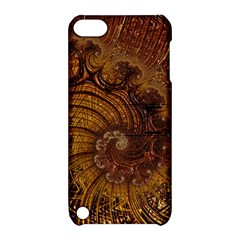 Copper Caramel Swirls Abstract Art Apple iPod Touch 5 Hardshell Case with Stand