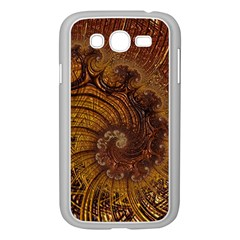 Copper Caramel Swirls Abstract Art Samsung Galaxy Grand Duos I9082 Case (white)