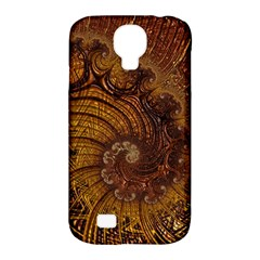 Copper Caramel Swirls Abstract Art Samsung Galaxy S4 Classic Hardshell Case (pc+silicone)