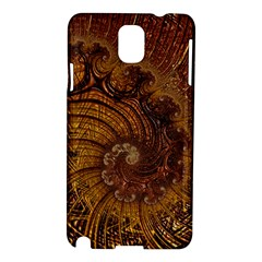 Copper Caramel Swirls Abstract Art Samsung Galaxy Note 3 N9005 Hardshell Case
