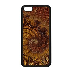 Copper Caramel Swirls Abstract Art Apple iPhone 5C Seamless Case (Black)