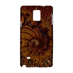 Copper Caramel Swirls Abstract Art Samsung Galaxy Note 4 Hardshell Case