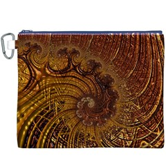 Copper Caramel Swirls Abstract Art Canvas Cosmetic Bag (XXXL)