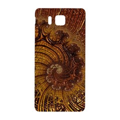 Copper Caramel Swirls Abstract Art Samsung Galaxy Alpha Hardshell Back Case