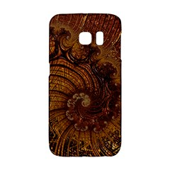 Copper Caramel Swirls Abstract Art Galaxy S6 Edge