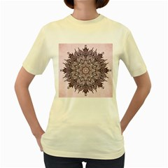 Sacred Art Shaman Shamanism Women s Yellow T Shirt