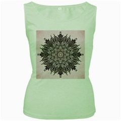 Sacred Art Shaman Shamanism Women s Green Tank Top
