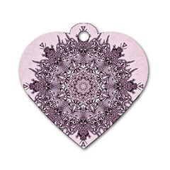 Sacred Art Shaman Shamanism Dog Tag Heart (two Sides)