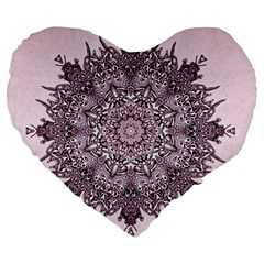 Sacred Art Shaman Shamanism Large 19  Premium Heart Shape Cushions