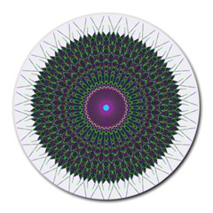 Pattern District Background Round Mousepads
