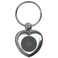 Pattern District Background Key Chains (heart)