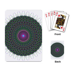 Pattern District Background Playing Card