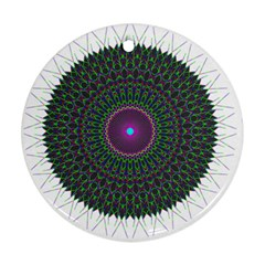 Pattern District Background Round Ornament (Two Sides)