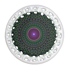 Pattern District Background Ornament (round Filigree)