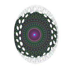 Pattern District Background Oval Filigree Ornament (two Sides)