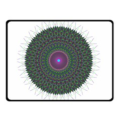 Pattern District Background Double Sided Fleece Blanket (small)