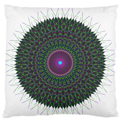 Pattern District Background Large Flano Cushion Case (Two Sides)