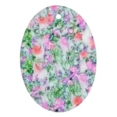 Softly Floral A Ornament (Oval)