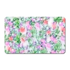 Softly Floral A Magnet (Rectangular)