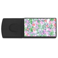 Softly Floral A USB Flash Drive Rectangular (1 GB)