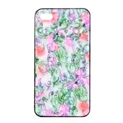 Softly Floral A Apple iPhone 4/4s Seamless Case (Black)