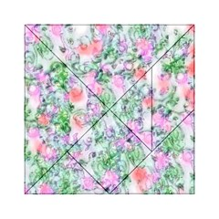 Softly Floral A Acrylic Tangram Puzzle (6  x 6 )