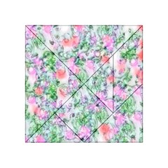 Softly Floral A Acrylic Tangram Puzzle (4  x 4 )