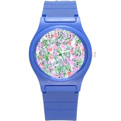 Softly Floral A Round Plastic Sport Watch (S)