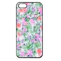 Softly Floral A Apple iPhone 5 Seamless Case (Black)