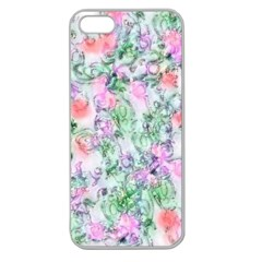 Softly Floral A Apple Seamless iPhone 5 Case (Clear)
