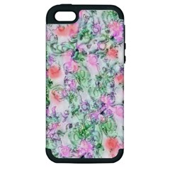 Softly Floral A Apple iPhone 5 Hardshell Case (PC+Silicone)